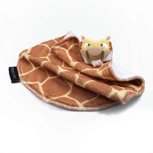 Dumforter 3 in 1 soother, teether, comforter in the wild collection gerry giraffe