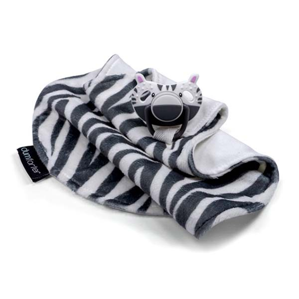 Dumforter 3 in 1 soother, teether, comforter Zsa Zsa Zebra
