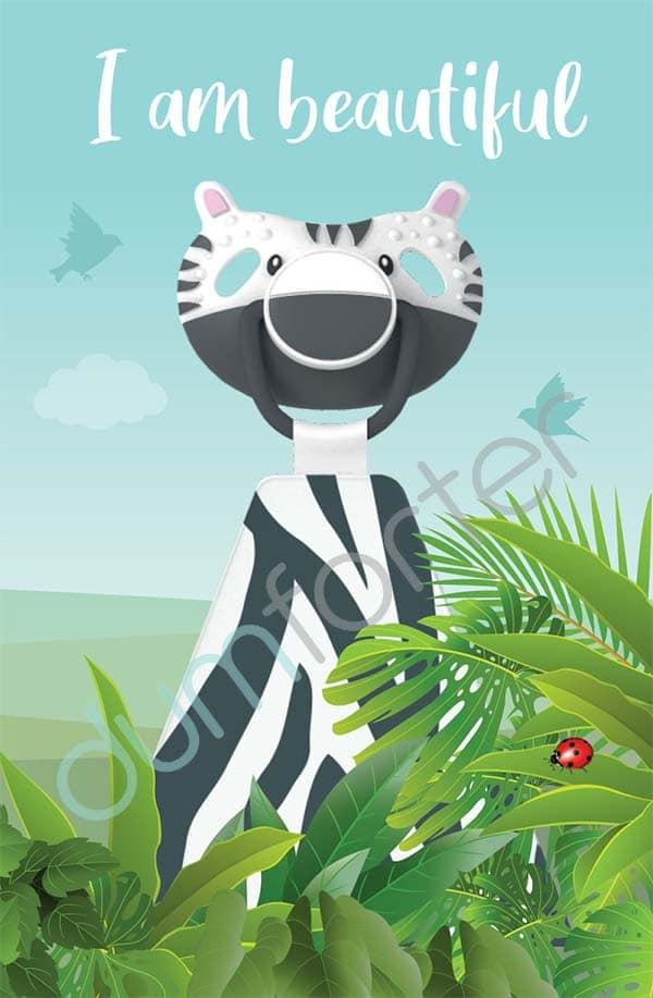 Dumforter ZsaZsa Zebra print
